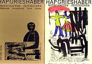 Botschaften, Zeitzeichen : Bildbriefe, Holzschnitte, Texte, Notate: Helmut Andreas Paul Grieshaber;...
