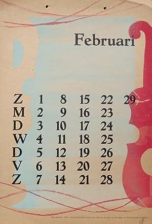 Kalender 1948 - februari/February: Berg, Siep van den