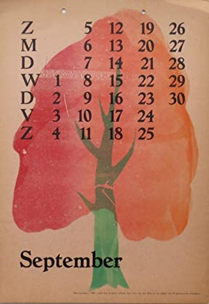Kalender 1948 - September: Berg, Siep van den