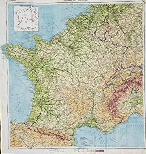 Escape & Evasion map Zones of France (second edition): Royal Air Force