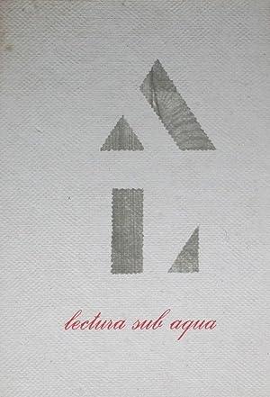 Experimenta typografica 1 / Lectura sub aqua: Sandberg, Willem