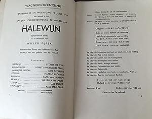 Halewijn : programma, inleiding, tekst: Wagnervereeniging