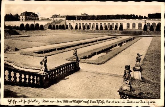 Ansichtskarte / Postkarte Großsedlitz Heidenau in Sachsen, Blick von der Stillen Musik, Orangerie