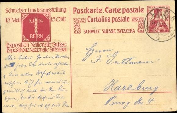 Ganzsache Ansichtskarte / Postkarte Schweizerische Landesausstellung Bern