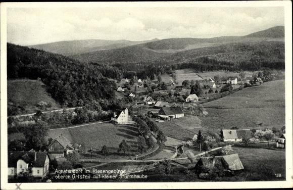 Ansichtskarte / Postkarte Agnetendorf Hirschberg Schlesien, oberer