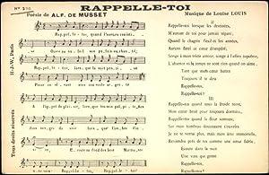 Lied Ansichtskarte / Postkarte Rappelle Toi, Alf