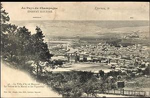 Ansichtskarte / Postkarte Epernay Marne, vue générale