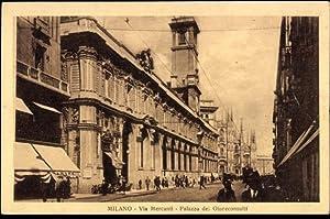 Ansichtskarte / Postkarte Milano Mailand Lombardia, via