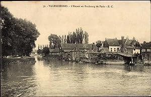Ansichtskarte / Postkarte Valenciennes Nord, L'Escaut au
