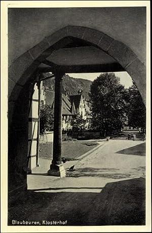 Ansichtskarte / Postkarte Blaubeuren, Partie im Klosterhof,