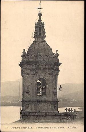 Ansichtskarte / Postkarte Fuenterrabia Baskenland Spanien, Campanario