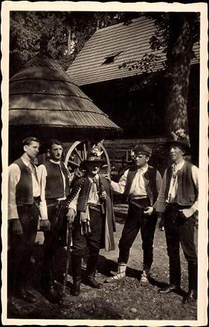 Ansichtskarte / Postkarte Moravske narodni kroje, Valasi,