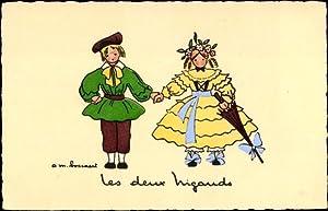 Künstler Ansichtskarte / Postkarte Les deux Nigauds,