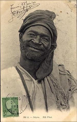 Ansichtskarte / Postkarte Negro, Portrait eines alten
