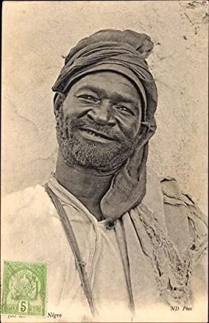 Ansichtskarte / Postkarte Negro, Portrait eines bärtigen
