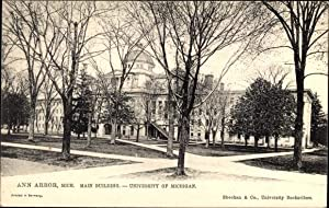 Ansichtskarte / Postkarte Anna Arbor Michigan USA, Main Building, University