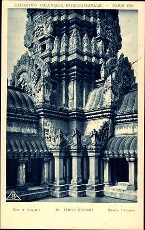 Ansichtskarte / Postkarte Paris, Weltaustellung 1931, Temple