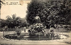 Ansichtskarte / Postkarte Relizane Algerien, Le Jardin