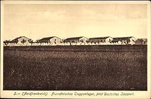 Ansichtskarte / Postkarte Sissonne Aisne, Französisches Truppenlager,
