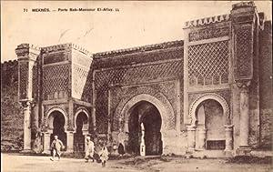 Ansichtskarte / Postkarte Meknès Marokko, Porte Bab