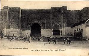 Ansichtskarte / Postkarte Meknès Marokko, Porte de