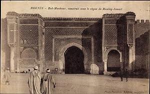 Ansichtskarte / Postkarte Meknès Marokko, Bab Mansour,