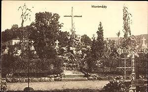 Ansichtskarte / Postkarte Montmédy Meuse, Friedhof, Grabkreuze,
