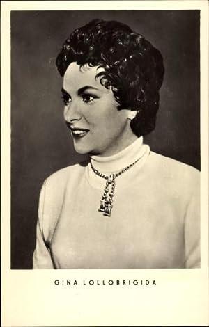 Ansichtskarte / Postkarte Schauspielerin Gina Lollobrigida, mit