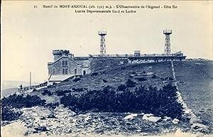 Ansichtskarte / Postkarte Mont Aigoual Gard, Observatoire,