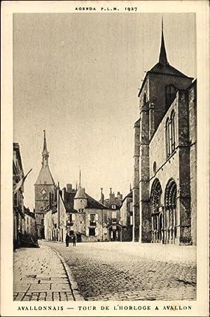 Ansichtskarte / Postkarte Avallonnais Yonne, Tour de