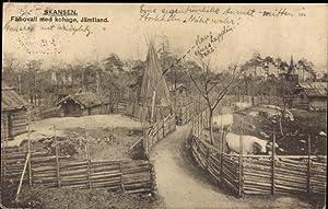 Ansichtskarte / Postkarte Jämtland Schweden, Fäbovall med