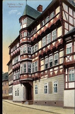 Ansichtskarte / Postkarte Stollberg Südharz, Straßenpartie mit