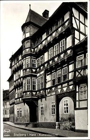Ansichtskarte / Postkarte Stolberg Südharz, Straßenpartie mit