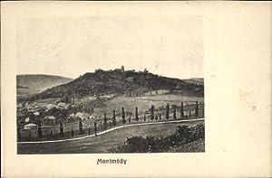 Passepartout Ansichtskarte / Postkarte Montmédy Meuse, Blick