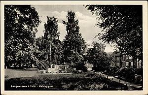 Ansichtskarte / Postkarte Langewiesen Thüringen, Heinzepark, Denkmal,