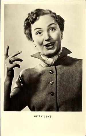 Ansichtskarte / Postkarte Schauspielerin Jutta Lenz, Portrait,