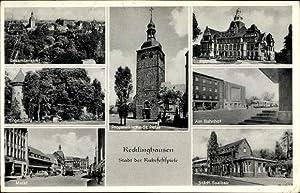 Ansichtskarte / Postkarte Recklinghausen im Ruhrgebiet, Bahnhof,