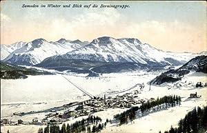 Ansichtskarte / Postkarte Samaden Kanton Graubünden, Talblick