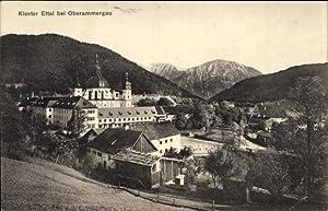 Ansichtskarte / Postkarte Ettal Oberbayern, Blick auf
