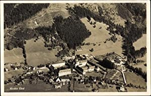 Ansichtskarte / Postkarte Ettal Oberbayern, Fliegeraufnahme, Blick