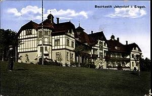Ansichtskarte / Postkarte Jahnsdorf Erzgebirge, Totalansicht vom