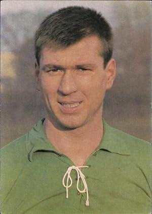 Ansichtskarte / Postkarte Fußballspieler Josef Piontek, Portrait,