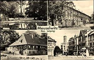 Ansichtskarte / Postkarte Meuselwitz, Leninpark, Poliklinik, Mühle,