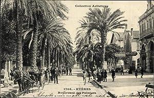 Ansichtskarte / Postkarte Hyères Var, Boulevard des