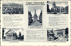 Ansichtskarte / Postkarte Detmold Lippe, Teilansichten, Landestheater,
