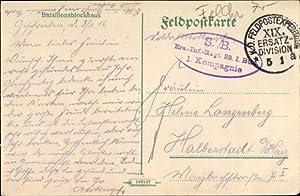 Ansichtskarte / Postkarte Stempel K. D. Feldpostexp.