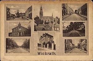 Ansichtskarte / Postkarte Wickrath Mönchengladbach, Straßenpartien, Kirche,