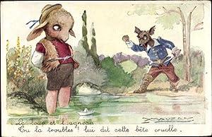Künstler Ansichtskarte / Postkarte Mauzan, Le loup