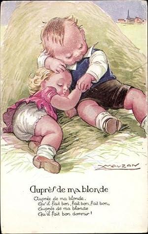 Künstler Ansichtskarte / Postkarte Mauzan, Auprès de
