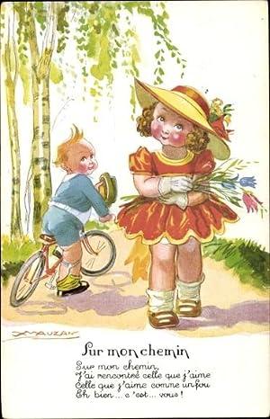 Künstler Ansichtskarte / Postkarte Mauzan, Sur mon